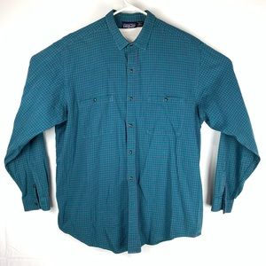 Patagonia Plaid Long Sleeve Button Down Size XL
